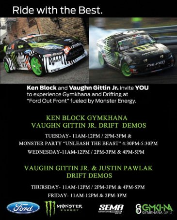 Ken Block & Vaughn Gittin Jr. Drift at SEMA 2010
