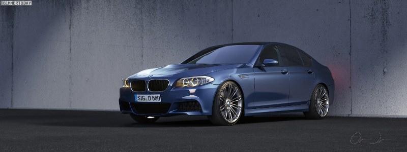 Galerie FOTO. BMW M5 F10 (ipoteză)