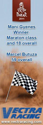 Vectra Racing Team a plecat la raliul Dakar 2012