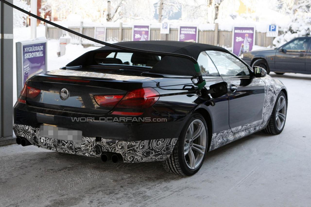 Spionaj. BMW M6 Cabrio!