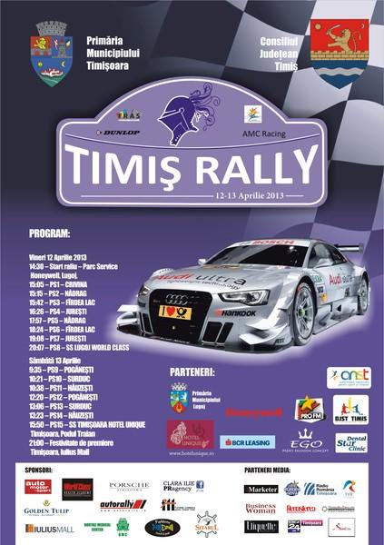 Peste 50 de echipaje vor lua startul la Timiș Rally, eveniment programat în perioada 12-13 aprilie