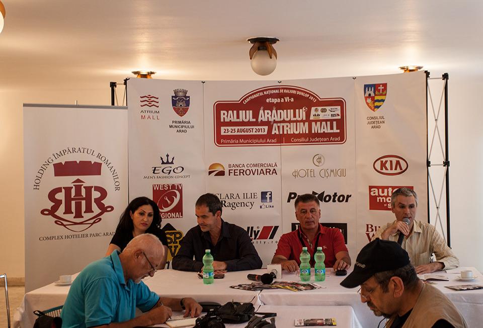 Conferinta de presa Raliul Aradului Atrium Mall 2013
