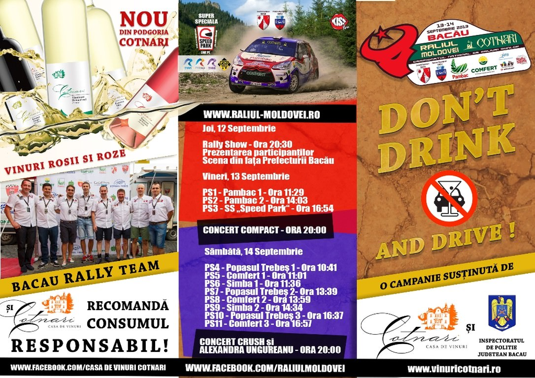 Raliul Moldovei Cotnari Bacau, DON'T DRINK AND DRIVE!