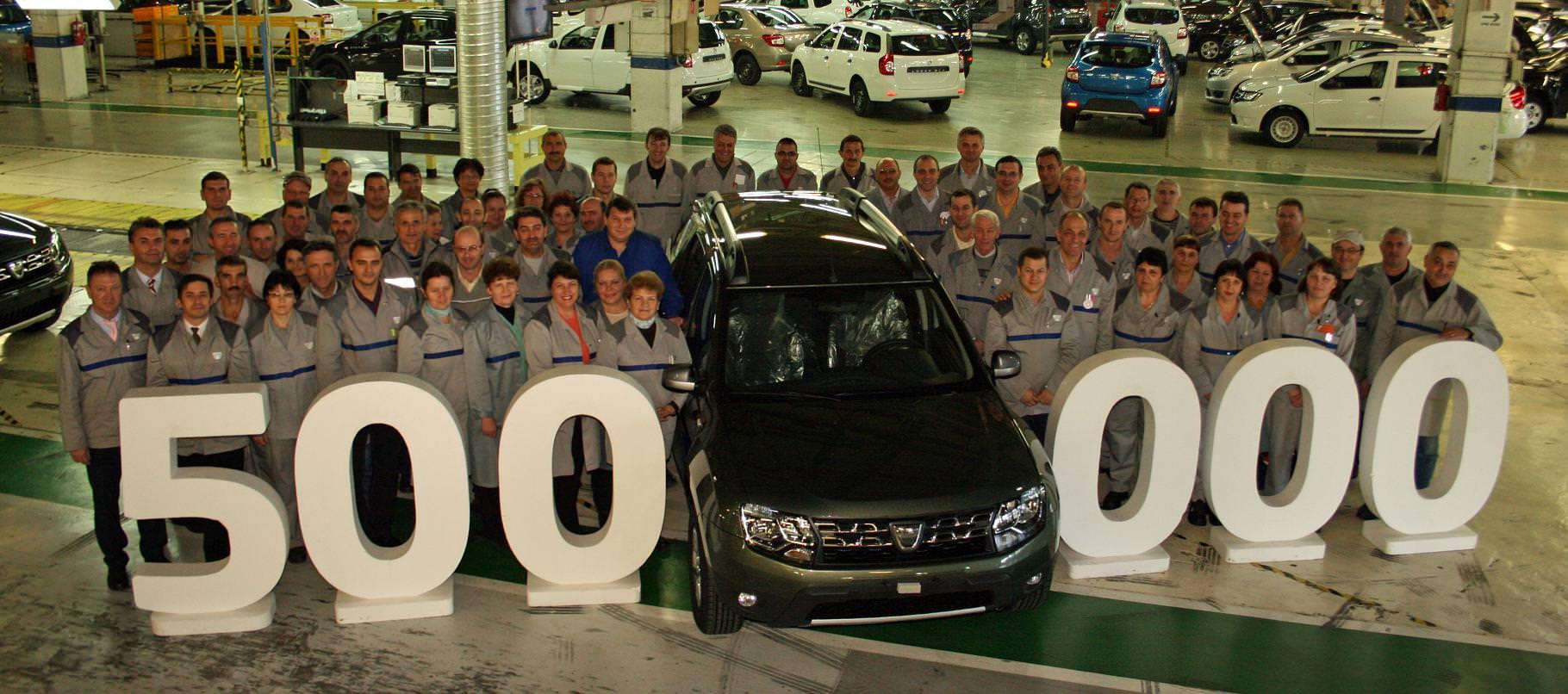 Dacia Duster cu numărul 500.000 ajunge in Franta