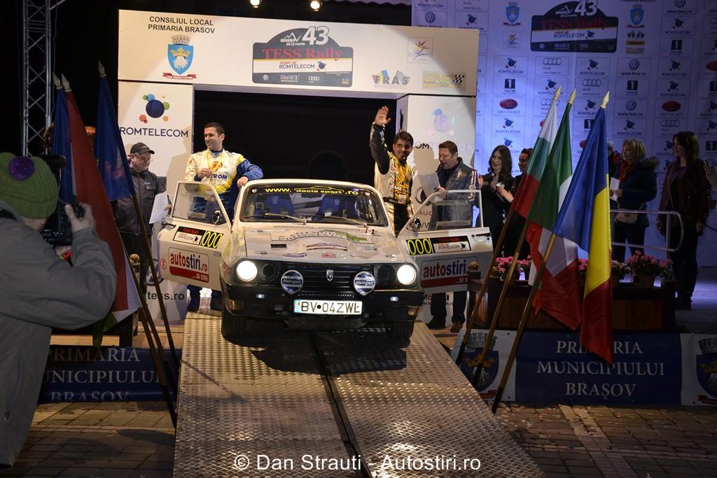 Tess Rally Romtelecom vazut de la bordul unei Dacia Sport