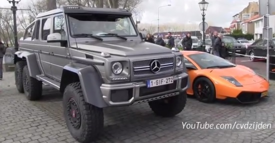 Video. Lamborghini Murcielago SV vs. Mercedes-Benz G63 AMG 6×6