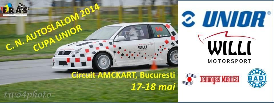 C.N. Autoslalom, CUPA UNIOR – 17-18 mai – Amckart, Bucureşti