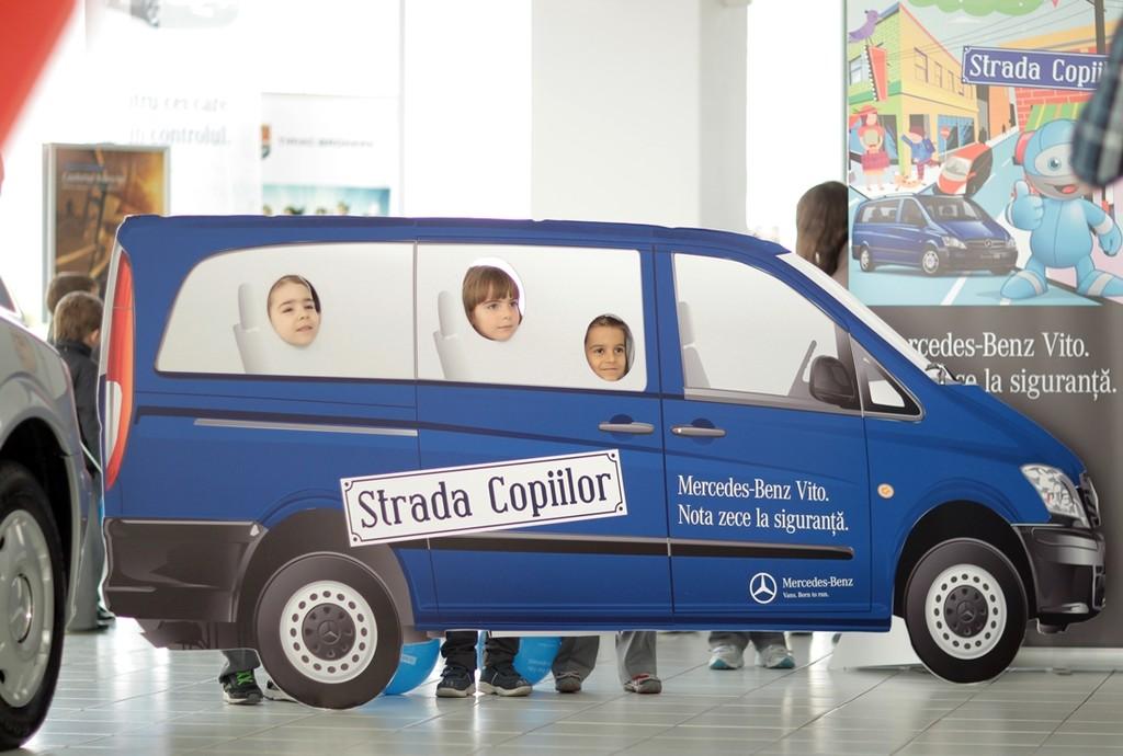 """Campanie educaţională: """"Mercedes-Benz Vito – Nota 10 la siguranţă"""""""