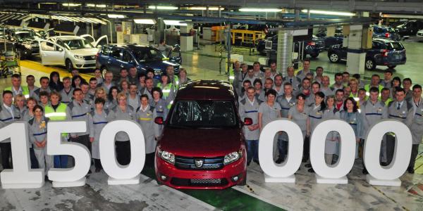 150.000 de Sandero produse la Mioveni
