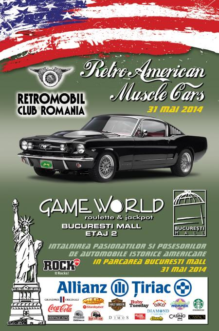 Retro American Muscle Cars