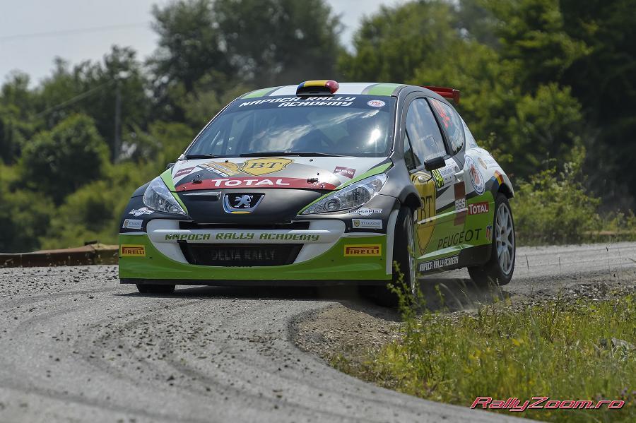 Simone Tempestini pe podium dupa prima zi in Transilvania Rally