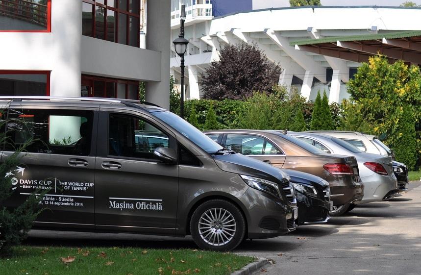 Mercedes-Benz a fost Maşina Oficială la întȃlnirea de Cupa Davis dintre Romȃnia şi Suedia