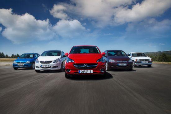 Opel Corsa: o poveste de succes în cinci acte