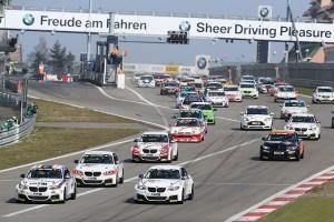 Start of the M235i Racing Cup 29.03.2014. VLN ADAC-Westfalenfahrt, Round 1, Nurburgring, Germany.