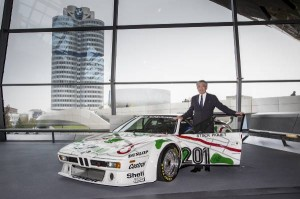 Masakuni Hosobuchi at the delivery of the BMW M1 Procar at BMW Welt.