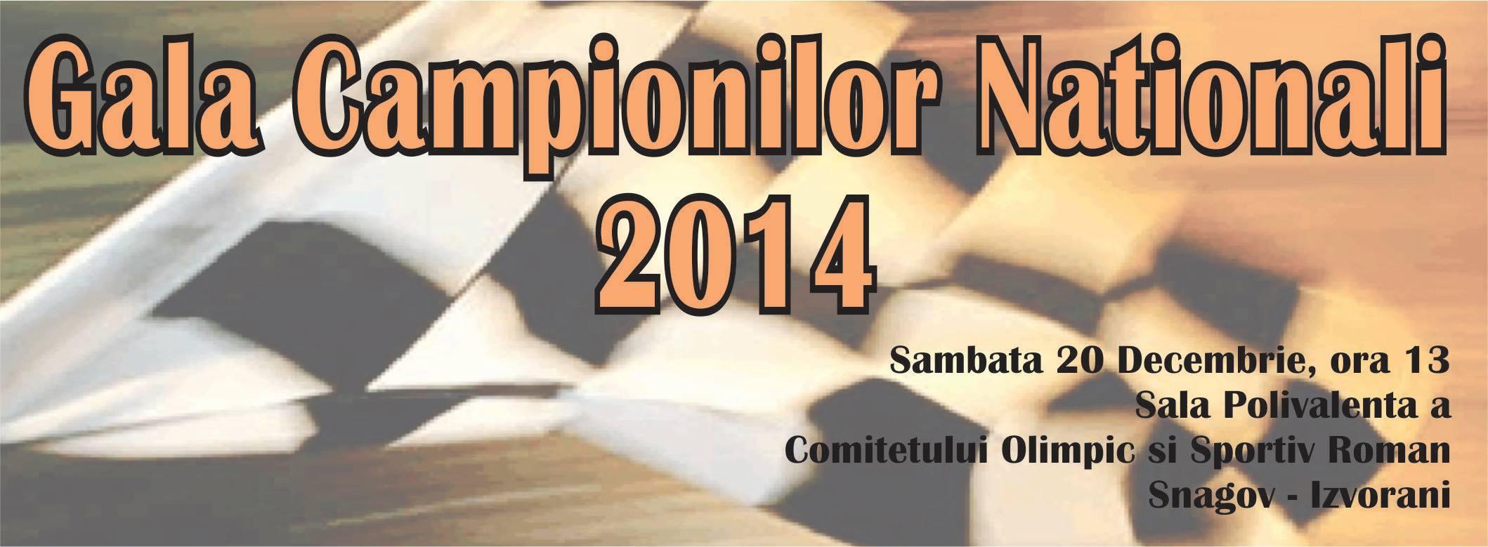 Campionii Nationali si Clasamentele finale – Gala Campionilor Nationali FRM 2014