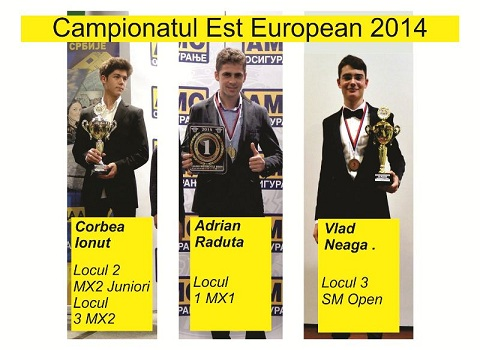 Sportivii romani pe podiumul Campionatului Est European de Motociclism 2014