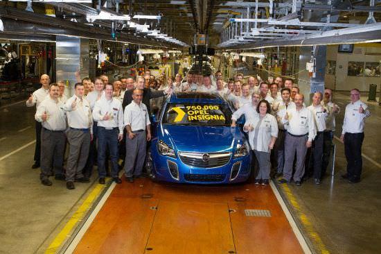 Opel Insignia cu numărul 750.000