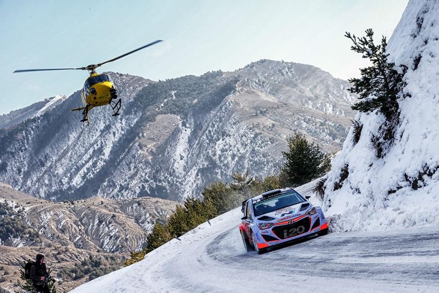 Raliul Monte-Carlo : Hyundai Motorsport in top sase
