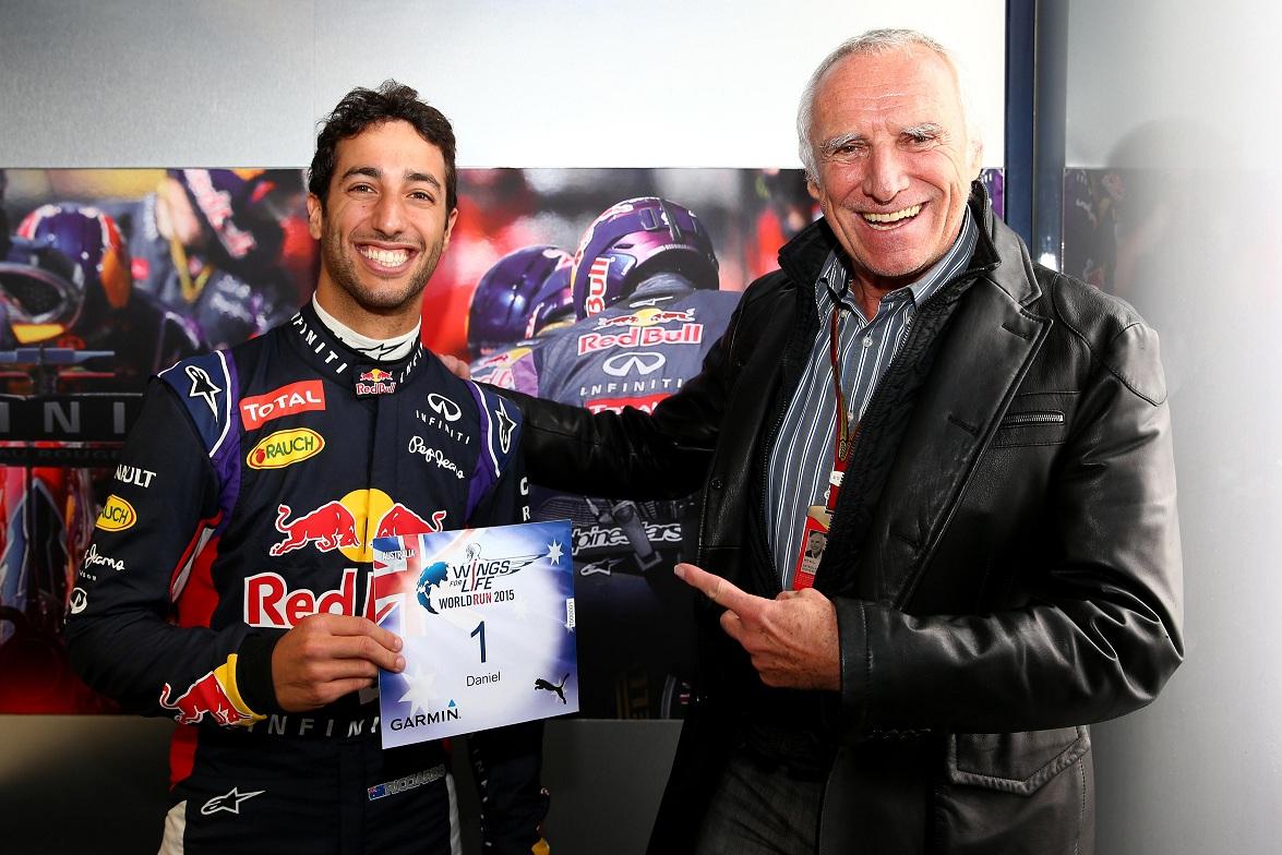 Daniel Ricciardo in pole position la Wings for Life World Run