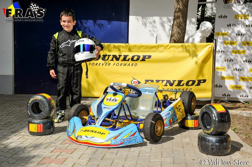 Andrei ENE, debut in Campionatul National de Karting Dunlop