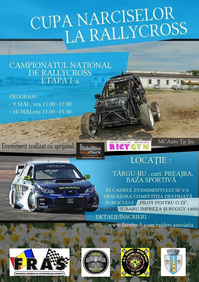 'Cupa Narciselor la Rallycross', etapa I din Campionatul National de Rallycross