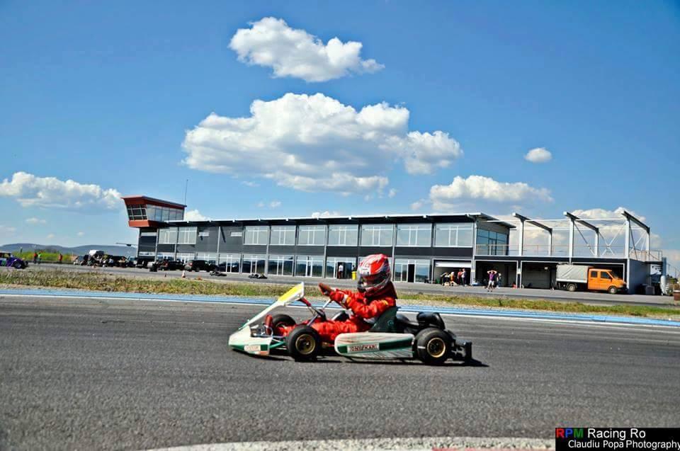Gabi Imre Jr., debut in karting la Prejmer Circuit