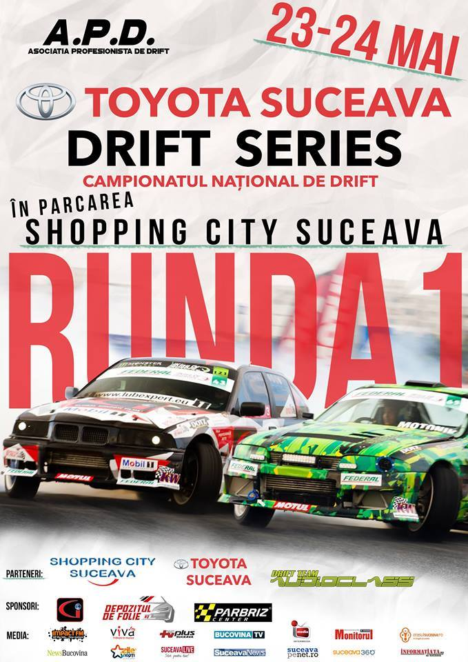 Shopping City Suceava – Campionatul national de drift, etapa I