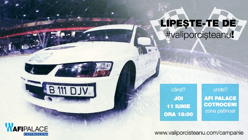 Vali Porcișteanu dă startul campaniei 'Lipește-te de #valiporcisteanu'