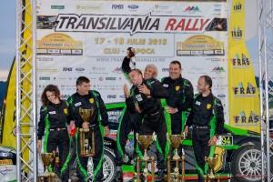 Podium Napoca Rally Academy - Transilvania Rally 2015