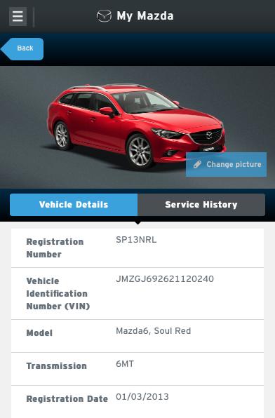 Aplicația My Mazda pentru smartphone