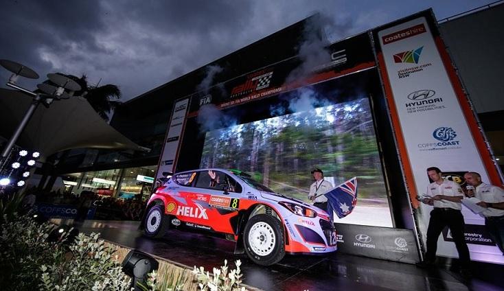 Raliul Australiei, debut promitator pentru Hyundai Motorsport