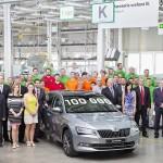 Jubileu: ŠKODA a produs 100.000 de exemplare Superb din generaţia a treia