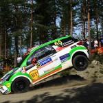Simone Tempestini se luptă pentru un loc pe podium în Junior WRC la Raliul Finlandei
