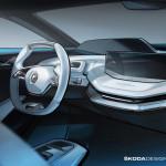 ŠKODA prezintă interiorul conceptului VISION E