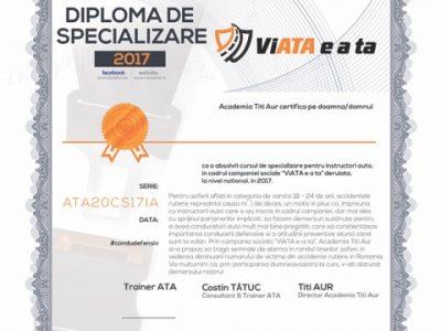 """Au început cursurile gratuite de specializare a instructorilor auto, în cadrul campaniei Academiei Titi Aur: """"ViATA e a ta"""""""