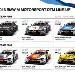 Designul celor şase BMW M4 DTM a fost confirmat pentru sezonul 2018