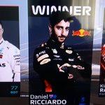 Ricciardo a savurat din nou, sampania din gheata de curse!