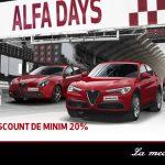 Testează modelele Alfa Romeo în campania Alfa Days