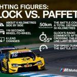 Cursă legendară DTM – infografic despre duelul dintre pilotul BMW Timo Glock şi Gary Paffett