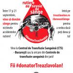 Intre 17 si 21 septembrie, doneaza sange pentru victimele accidentelor rutiere!