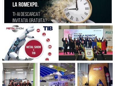 Azi se deschide METAL SHOW & TIB la Romexpo, cel mai mare târg tehnic organizat în ultimii 10 ani în România