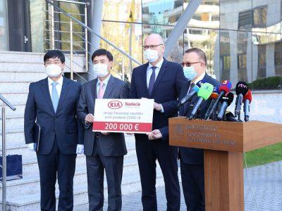Kia Motors Slovacia donează peste 375.000 Euro pentru a ajuta la combaterea răspândirii epidemiei COVID-19